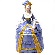German porcelain Lady Powder Jar, Sitzendorf