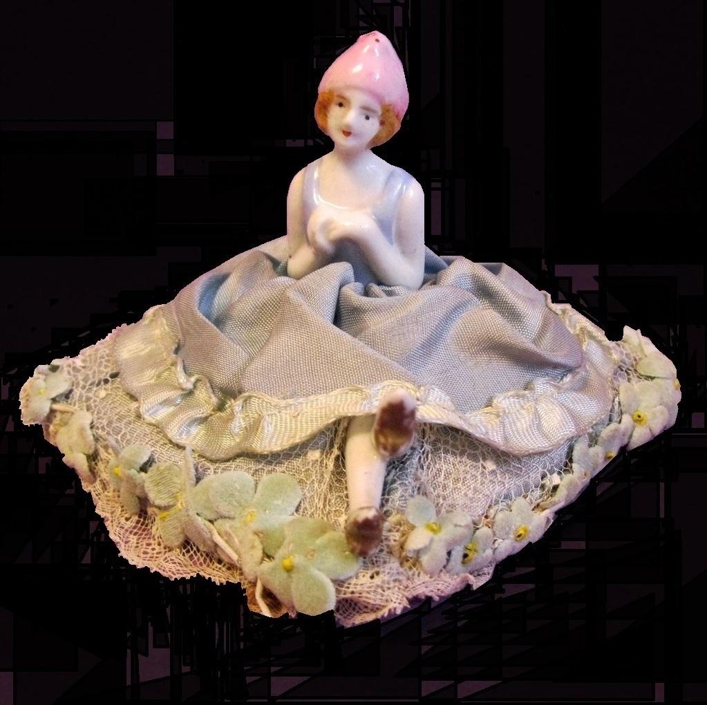 Porcelain Half-doll Original Pin Cushion