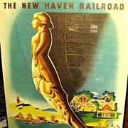 1945 New Haven Railroad Poster, Martha's Vineyard