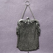 Antique Nouveau Sterling Mesh Purse