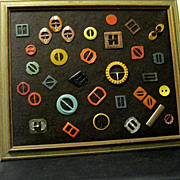 Framed Collection, Art Deco Buckles
