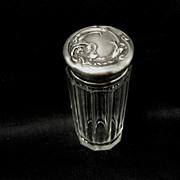 Unger Bros. Sterling/Crystal Vanity jar