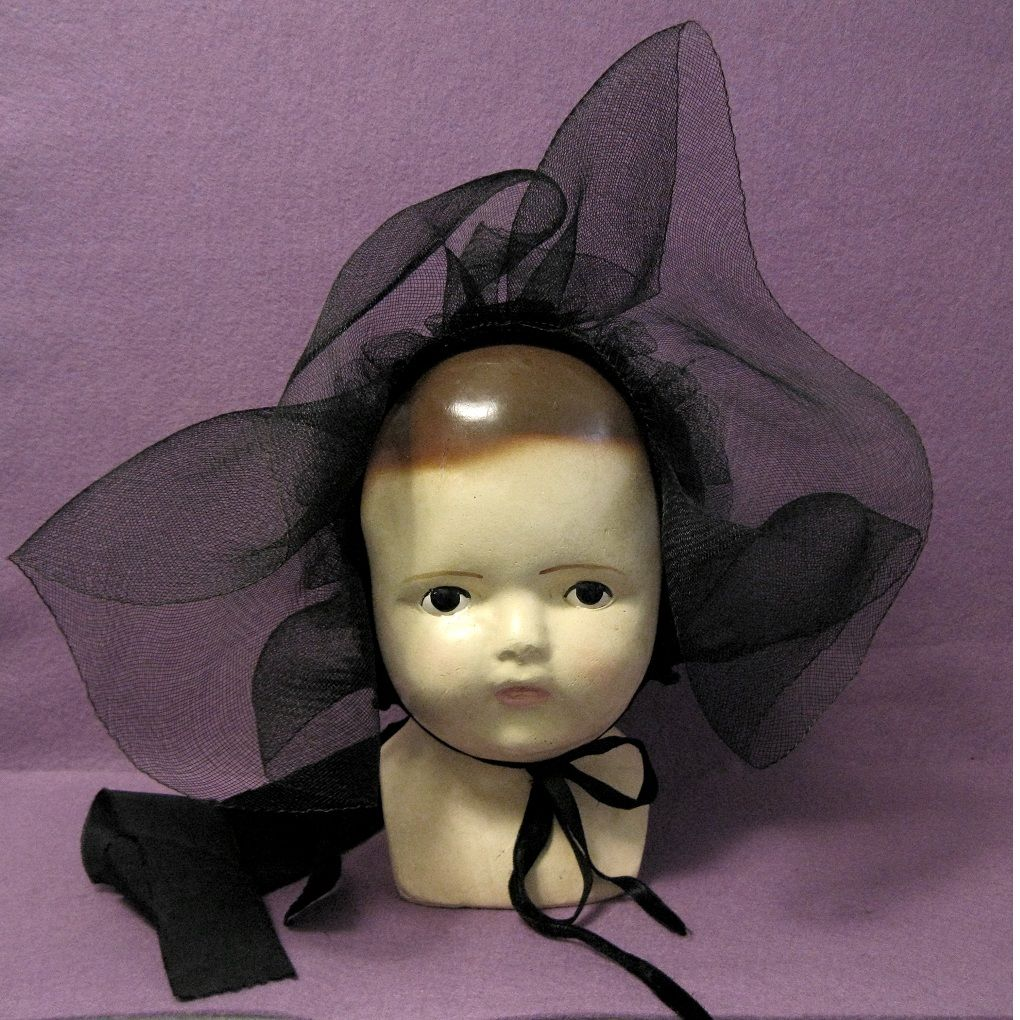 Old HorsehairCorduroy Amish Baby Bonnet From Toniink On
