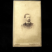 Civil War CDV Lt. Col. DW Marshall, Signed