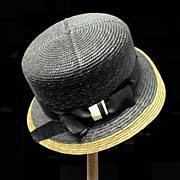 1920's Girl's Straw Cloche Hat