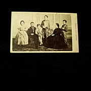 Grant and Family Original 1860s CDV