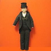 Antique German Bisque Dollhouse Fellow