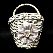 Doll's Vintage Wicker Basket Purse