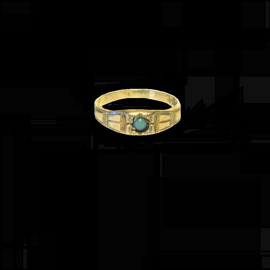 Victorian Gold filled Baby Ring, Tiny Centered Turquoise