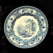 Grimwades/Davenport  Staffordshire Blue Transferware Plate