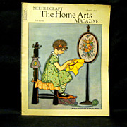 1935 Needlecraft Home Arts Magazine, Deco Cover