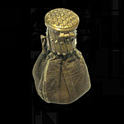 French Brass Gate Top Leather Coin purse
