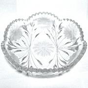 ABP Cut Glass Low bowl, 1910