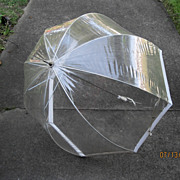 Vintage 1960's Mod Bubble Umbrella