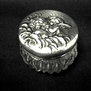 Unger Bros. Sterling Love's Dream, Cut glass Vanity Jar