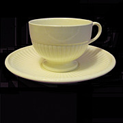 Wedgwood Queensware Vintage Cup/Saucer, Edme