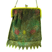 1920s Dresden Mesh Evening Purse, Venetian Fringe