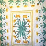 1930s Popular 'Poppy' Quilt, a Marie Webster Design