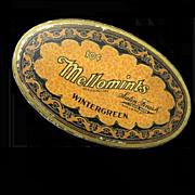 Oval Mellomints Ad Tin, Brandle & Smith Company, Philadelphia