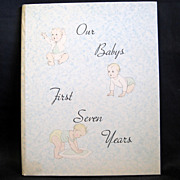 'Our Baby's 1st Seven Years' Unused Record book by Whitman, 1934