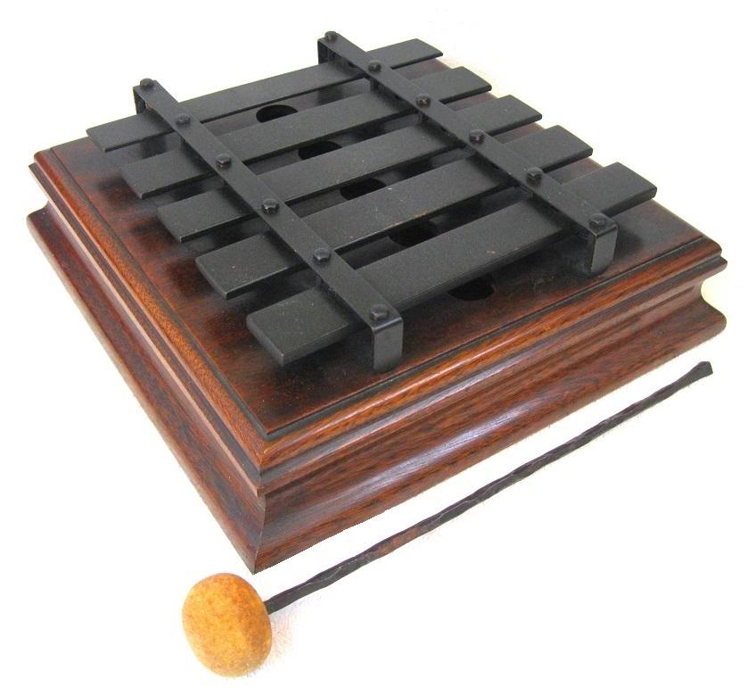 Deagan 5 Note Plate Chime No 182 Mahogany Resonator Box