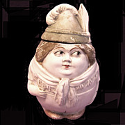 Early Bisque Humidor, Wagnerian Lady, Germany