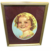 Framed 1935 Color Picture of Shirley Temple
