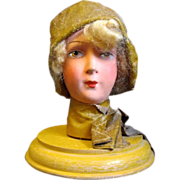 Art Deco Flapper in Fisherman's Slicker Hat Stand