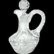 Rare 1850s EAPG, 'Four Petal' Flint Cruet