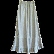 Fancy Tagged Amoskeag Chambray Striped Edwardian Petticoat