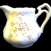 Victorian China Milk Pitcher, Apple Blossom Design