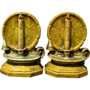 Candles Shine Brightly on Vintage Syroco Bookends