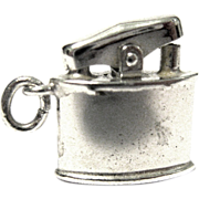 Mechanical Sterling Silver Cigarette Lighter Charm