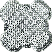 Sparkling Glass Sawtooth Star Serving or Relish Tray, Unusual Shape