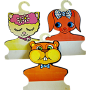 Children's Cardboard Animal Head Clothes Hangers