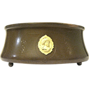 Benedict Athenic Bronze Arts and Crafts Planter with Cameos, 1916