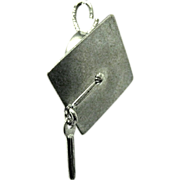 Vintage Sterling Graduation Cap or Mortar Board Charm
