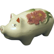 1940s Pottery Pig Bank