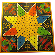 "1937 Deluxe ""Ching Gong Oriental Checkers"" Game Board, Sam'l Gabriel Sons"