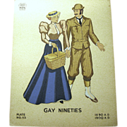 1935 WPA Museum Large Fashion Poster, Gay Nineties