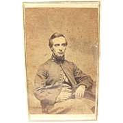 Carte de Visite of Civil War Soldier in York Jacket, ca. 1865