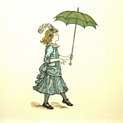 """Kate Greenaway Illustrated Book, """"Queen of the Pirate Isle"""", by Bret Harte, 1931 Re-issue"""