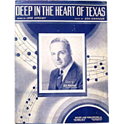"1941 Sheet Music Hit, ""Deep in the Heart of Texas"", Swander and Hershey"