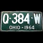 1964 Ohio Single Vintage License Plate