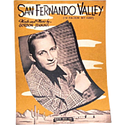 "1943 Sheet Music ""San Fernando Valley"" Features Crooner Bing Crosby"
