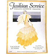 "June 1929 ""Fashion Service"", Woman's Institute Magazine"
