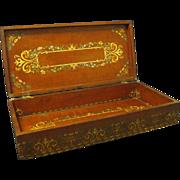 Paint Decorated Edwardian Hinged Hardwood Letter Box