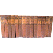 Elbert Hubbard, LITTLE JOURNEYS TO THE HOMES OF THE GREAT, 14 Vol. Set