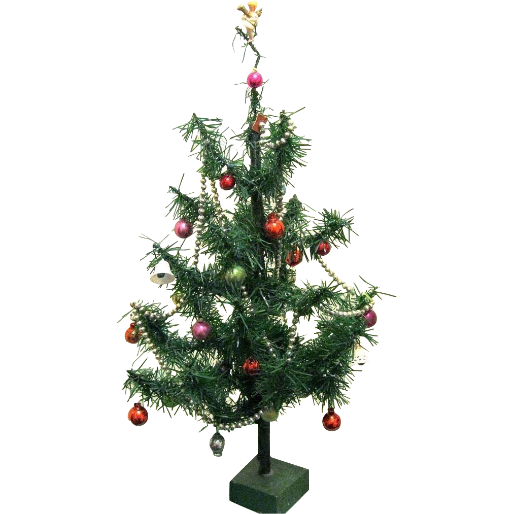 Cellophane christmas tree mini from rubylane sold on ruby lane