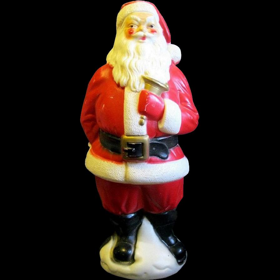 Large mid century quot hard plastic light up santa claus